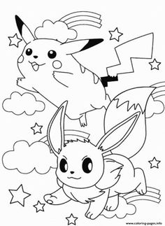 Pokemon Coloring Pages Pikachu And Ash Through The Thousand Images