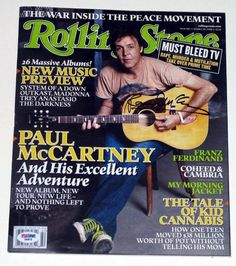 #PaulMcCartney Signed Rolling Stone Magazine PSA DNA Certified   Guaranteed Authentic!   Letter of Authenticity (Mark Turgeon) Shark's Treasures   Lifetime Guarantee of Authenticity   Prompt Shipping Worldwide