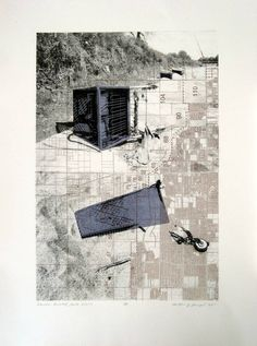 Matthew Rangel, Suburban Riverbed - North Visalia, lithograph, nd