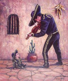 Mariachi Painting - Captivated Listener by Ed Breeding Mexican Artwork, Mexican Paintings, Mexican Folk Art, Mexican American Flag, Lettrage Chicano, Chicano Tattoos, Mexican Pictures, Mexico Wallpaper, Tattoos Realistic