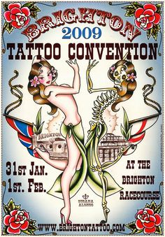 Susana Alonso's Artwork: POSTER FOR THE BRIGHTON TATTOO CONVENTION 2009