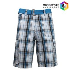 Men's Galaxy By Harvic Belted Plaid Cargo Shorts - $11.88. https://www.tanga.com/deals/eeda8f4b3917/men-s-galaxy-by-harvic-belted-plaid-cargo-shorts