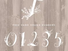 Hand Drawn Numbers Stunning Hand Drawn Numbers - Designs By Miss Mandee. Think of how fun these would be on place settings at a wedding, or as part of a birthday banner!The Wedding The Wedding may refer to: Fancy Numbers, Letters And Numbers, Table Numbers, Number Fonts, Number Art, Number Tattoos, Free Hand Drawing, Daisy, Wedding Place Settings