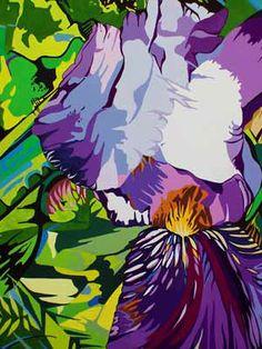 famous paintings purple | Purple Iris Painting