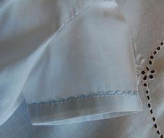 Machine Shell Hem when used as a trim. Sew Beautiful magazine, January 2011.