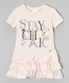Look at this Pink 'Stay Chic' Ruffle Dress - Infant, Toddler & Girls on #zulily today!