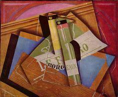 Juan Gris: Stilleven met bordeauxfles, 1919