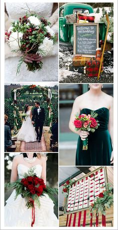 bold scarlet red and emetald green christmas wedding ideas jahrmarkt, 7 Pretty Winter Wedding Color Ideas with Christmas Festive Spirits Popular Wedding Colors, Winter Wedding Colors, Christmas Wedding Themes, Christmas Wedding Invitations, Collor, Wedding Inspiration, Wedding Ideas, Wedding Venues, Wedding Gowns
