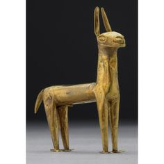 Inca miniature gold llama from Peru, about AD 1500.