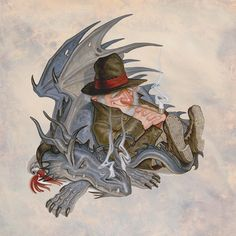 Sometimes a dragon can keep you warm on a cold night! - Paul Kidby artist
