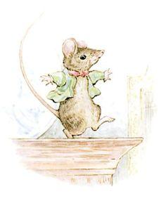 """"""" La souris s'est faufilée par le trou et elle a pris ses jambes à son cou ! La voici en train de danser la gigue sur la corniche de l'armoire ! """" ~ Mademoiselle Mitoufle"""