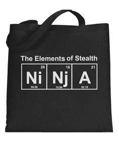 Element of Stealth (Ni-Nj-A) Tote Bag | CrazyDog T-shirts
