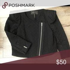 BCBGMaxAzria blazer Zip up blazer with padded shoulders  excellent condition BCBGMaxAzria Jackets & Coats Blazers