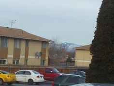 PT 5 FEB 2014 BOGUS BASIN AND SHAFER BUTTE BEHIND BOISE IDAHO. AS SEEN FROM NAMPA.