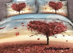 #new #cotton #maple New Arrival Cotton Skin Care Maple Leaves Love Tree Print 4 Piece Bedding Sets/Duvet Cover Sets  Buy link->http://goo.gl/ml3mFN Live a better life, start with @beddinginn