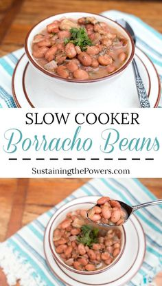 Borracho beans are so great in the slow cooker!