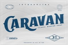 Caravan - Display Font by Khoir on @creativemarket