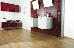 Porcelanosa Parker Wood Porcelain tiles in Montana Noce