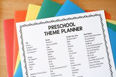 Themes Preschool Curriculum Free, Preschool Schedule, Preschool Special Education, Kids Education, Daycare Themes, Kindergarten Themes, Preschool Themes, Monthly Themes, School Psychology