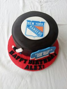 New York Rangers Cake I made... Jerayln's Sweets on Facebook