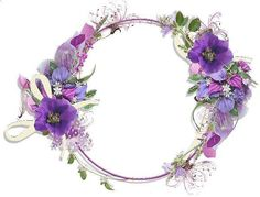 frames and borders Purple Flower Round Frame Frame Floral, Flower Frame, Flower Art, Flower Backgrounds, Wallpaper Backgrounds, Bing Bilder, Gallery Frames, Borders And Frames, Round Frame
