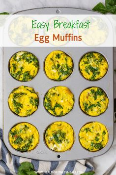 Breakfast Egg Muffins are a Protein-packed breakfast recipe that's great healthy to-go breakfast for those busy mornings. Healthy Protein Snacks, Healthy Breakfast Recipes, Healthy Eating, Healthy Recipes, Healthy Soups, Diet Snacks, Quick Snacks, Delicious Recipes, Healthy Food