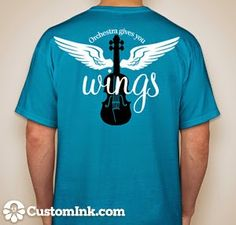 Great idea for orchestra t-shirts!  Click to see other ideas to go with the shirt...
