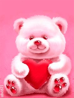 Discover & share this Animated GIF with everyone you know. GIPHY is how you search, share, discover, and create GIFs. Teddy Bear Cartoon, Cute Teddy Bears, Animated Heart, Animated Gif, Animated Screensavers, Coeur Gif, Teddy Pictures, Teddy Day, Cute Love Gif