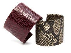 Python & Lizard Textured Cuffs by AV Max