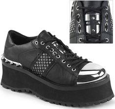 758c10dde0f5 Demonia Gravedigger 2 Lace Up Shoes