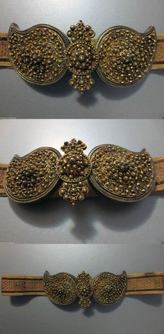 Ottoman silver gilded filigree belt buckle. ca. 19th century