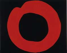 Jiro Yoshihara 'Red Circle on Black' (1965)