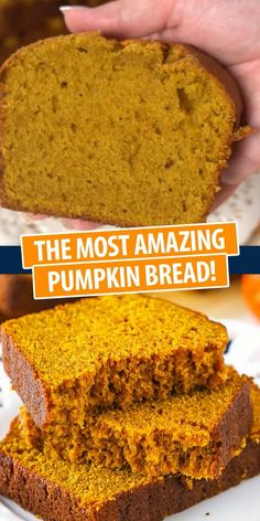 Easy and moist loaf full of flavor, pumpkin, and spice! This yummy pumpkin bread is great for the fall season! Bring on the pumpkin! Healthy Pumpkin Bread, Savory Pumpkin Recipes, Pumpkin Chocolate Chip Bread, Chocolate Chip Recipes, Snack Recipes, Dessert Recipes, Recipes Dinner, Paleo Recipes, Bread Recipes