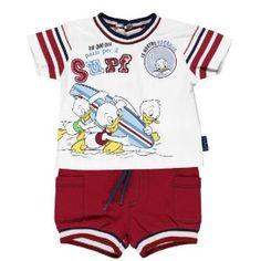 Brums - Maglia Disney e pantaloncini rossi, 9 mesi