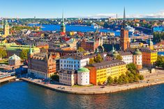 Photo about Scenic summer aerial panorama of the Old Town (Gamla Stan) in Stockholm, Sweden. Image of panorama, pier, beautiful - 29502570 Farah Diba, Stockholm Old Town, Stockholm Sweden, Cool Countries, Countries Of The World, Cool Places To Visit, Places To Go, Destinations, Site Archéologique