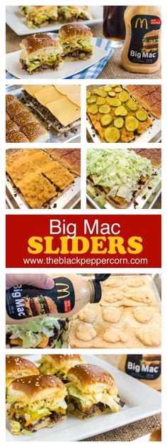 Make mini Big Mac sliders at home with 12 dinner rolls (ex: King's Hawaiian) and using Big Mac Sauce or Thousand Island dressing. Tastes just like McDonalds!