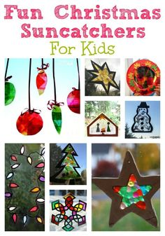 Christmas Suncatchers kids can make - easy Christmas crafts and decorations