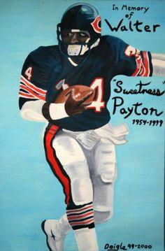 041-Walter-PAYTON-Football-Americain-executant-dos-NFL-24-x37-Poster