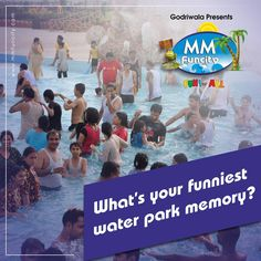 We are very curious as to what your funniest #waterpark memory is? Comment and share it with us! #MMFunCity #Fun #Memory #Family