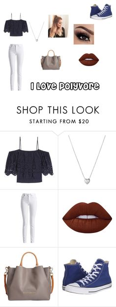 """""""#Casual"""" by fabsim on Polyvore featuring Ganni, Links of London, Barbour International, Lime Crime, Dooney & Bourke and Converse"""