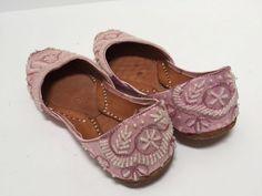 f4550d9fa6aa6 Size 7 summer pink boho beaded flats
