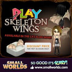 New Play Skeleton Wings: #discount for 24 Hours!