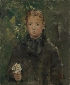 Hans Olaf Heyerdahl, Portrait of a Girl with a Bunch of Flowers, 1882 Theo van Gogh was Hans Heyerdahl's dealer. He admired the Norwegian artist's work and had several of his paintings in his own collection, including this Portrait of a Girl from 1882.