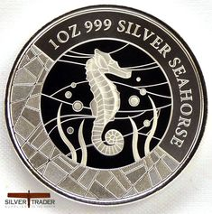 The 2018 Somoan Seahorse 1 oz Silver Bullion Coin, This coin is minted by the Scottsdale for the Island nation of Samoa with a mintage of coins. Bullion Coins, Silver Bullion, Classic Cartoons, Coin Collecting, 1 Oz, Silver Coins, Sea Creatures, Precious Metals, Comic Books