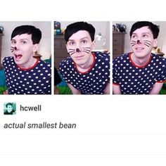 Ew i feel sick >> excuse you fight me Phil is smol bean>>yes he is precious
