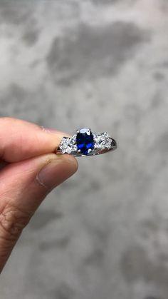Sapphire Jewelry, Blue Sapphire Rings, Blue Rings, White Gold Rings, Diamond Rings, Blue Diamond Jewelry, Blue Wedding Rings, Marquise Diamond, Crystal Jewelry