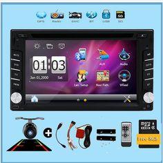 78.52$  Buy now - http://alif8q.worldwells.pw/go.php?t=32613480179 - 2016 New In dash car dvd player GPS Navigation car audio stereo 8GB map Bluetooth car radio FM AM car monitor Wince 6 multimedia 78.52$