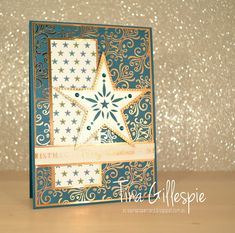 Stampin' Up! So Many Stars Seasons Greetings Card – Stamp With Amy K Stampin Up Christmas, Christmas Cards To Make, Christmas Star, Holiday Cards, Wondrous Wreath, Star Cards, Christmas Catalogs, Card Patterns, Winter Cards