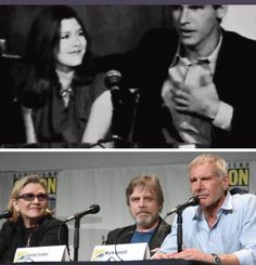 Oh my gosh Carrie Fisher Family, Carrie Frances Fisher, Star Wars Cast, Leia Star Wars, Carrie Fisher Harrison Ford, Han And Leia, Star War 3, Mark Hamill, Bad Feeling