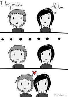 What my relationship will be like. ...Looool!! Every otaku's dream!haha Kawaii! <3
